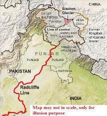महत्वपूर्ण सीमा रेखाएँ / Important boundary lines